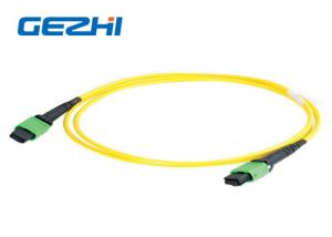China Single mode 12 Fiber Optic Patch Cord , MTP MPO Patch Cord Truck Cable Jumper on sale