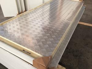 China 1000mm Width PU Cold Room Insulation Panel With Stainless Steel Surface on sale