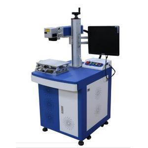 China Expiry Date Marking Laser Marking Equipment 20w Desktop With Conveyer Belt on sale