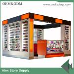 China Mobile display cabinet glass display counter shop furniture mall kiosk display wholesale