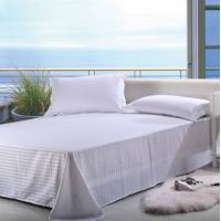 100% Cotton Single Linen Bed Sheets , Woven / Lace / Embroidery Bed Sheets