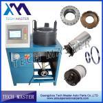 Swager de friso da máquina da mangueira hidráulica da suspensão do ar da mola de ar do toque da tela