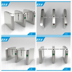 China Office Entrance Stainless Steel Drop Arm Turnstile With 560mm Passage Width on sale