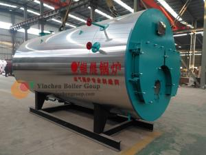 China Diesel Oil Gas Fired Steam Boiler 1.0-2.5 Mpa Three Pass Fire Tube Wet Back on sale