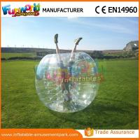 1.2 M Diameter PVC Transparent Inflatable Bubble Soccer Human Zorb Ball
