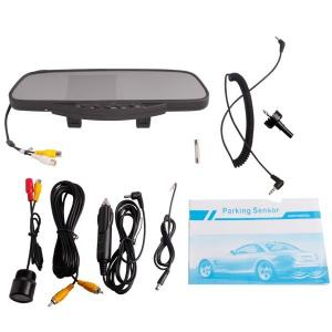 China DC 9-15V Car Rear View Mirror With 3.5 Tft And Camera /Dual Stereo Louder Speaker on sale