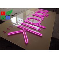 China Pink Led Neon Light Signs Flex Signage With Clear Backing For Shop Wall Branding on sale