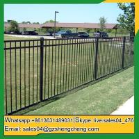 Leonora Wrought iron tubular fencing pictures iron fences for sale