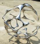 Contemporary Outdoor Garden ornaments Stainless Steel Sculpture For Public Decoration