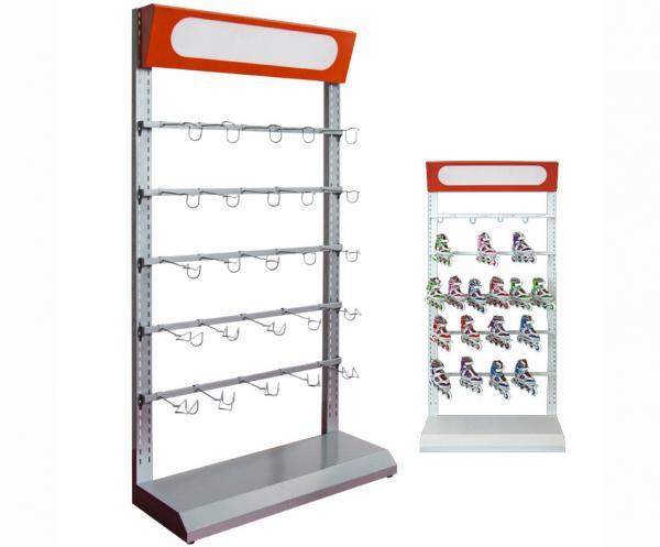 Custom Basketball Rack / Metal Skateboard Rack Freestanding With Red