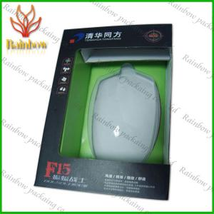 China Paper Box Packaging With Plastic Transperent Window For Mouth / Electics on sale