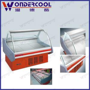 China 2M supermarket commercial meat display fridge dry deli refrigerator deli cooler showcase on sale