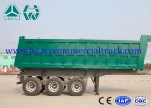 China Reliable Structure Hydraulic Square Tipping Trailer , Heavy Truck Trailer on sale