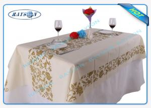 China Different Design 38gsm Non Woven Disposable Tablecloth For Canteen Use on sale