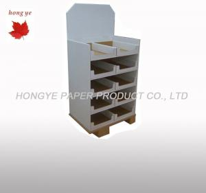 China Full Color Printing Cardboard Pallet Display Glossy Lamination Corrugated Paper Displays on sale