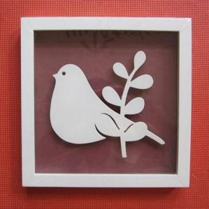 China Wooden Photo/Picture frames, carved birds inside, matt white color on sale