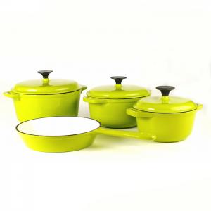 China cast iron enameled cookware set factory on sale