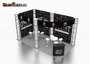 China Durable 20x10 Trade Show Booth Portable Exhibition Stall With Spiral Tower on sale