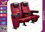 Rocker Back luxury Movie Theatre Auditorium Chair With Tablet Arms