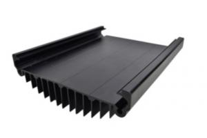 China Black Anodized Aluminum Extrusions For Electronics / Electrical Cover wholesale