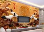 Energy Saving Decorative 3D Leather Wall Panels Density 1.23 g/m²