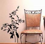 Grandes etiquetas antigas de cinzeladura artificiais G120 da flor de parede