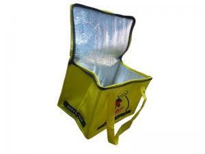 China 75g Yellow Unwoven Fabric Thermal Insulated Bags, Cooler Bag For Ice-cream, Beer on sale