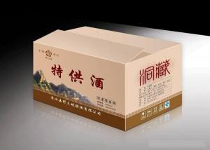 China CMYK Pantone Color Wine Packaging Boxes Printing , D-Flute Corrugated Box Printing on sale