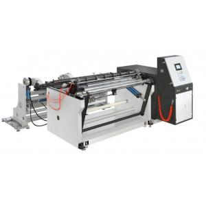 China LCM-B1300 PLC SINGLE REWIND SLITTING MACHINE adhesive label paper, craft paper etc 1500mm max unwinding rewinding dia on sale