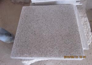 China G681 Granite Stone Tiles Bathroom Use Polished Cream Beige Color on sale