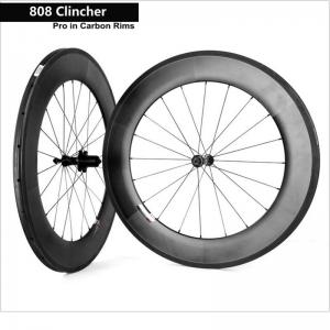China Cool Areo Carbon Fiber Wheelset 700c 808 Clincher Road Bicycle Wheels Support on sale