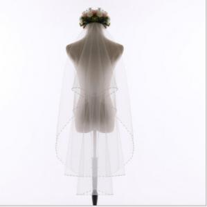 China Factory direct wholesale bridal veil short double light yarn soft fingertip wedding veil with hair comb  on sale