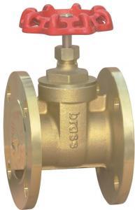 China Brass flange gate valve PN16 on sale