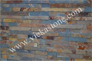 China Pedra oxidada da borda da ardósia, painel do folheado, painel de parede da ardósia, pedra da cultura, revestimento da parede da ardósia de China on sale