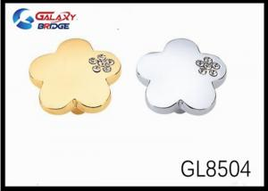 China Gold Plated Oval Acrylic Stones Crystal Drawer Handles And Knobs Gold Round Knobs on sale