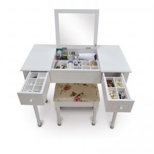 China KD Package 74.5cm height Lockable Printed Makeup Dressing Tables on sale