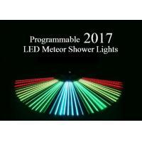 China Programmable Meteor Shower LED Christmas Lights UK / US Plug Full Color 80cm Length on sale
