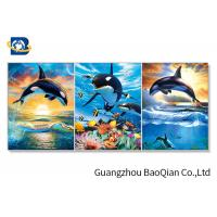 3D Wall Poster Lenticular Flip Animal Jumping Dolphins Photo / Picture Framed