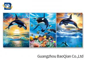 China 3D Wall Poster Lenticular Flip Animal Jumping Dolphins Photo / Picture Framed on sale