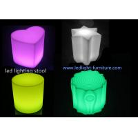 Portable Unbreakable  Heart Shaped Glow Led Lamp Stool for Party Hire Use