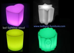 China Portable Unbreakable  Heart Shaped Glow Led Lamp Stool for Party Hire Use on sale