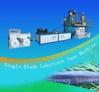 China Single blade labyrinth type drip irrigation tape making machine on sale