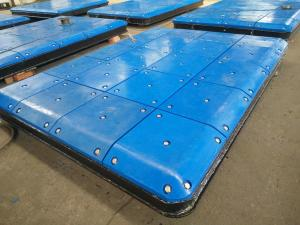 China Marine Fendering System Impingement Plate With PE Face Pads , Marine Panels on sale