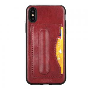 Quality Idools leather for iphone X iphone 10 back cover one card slot support stand for sale