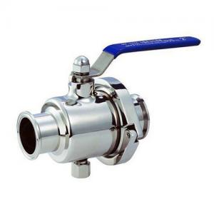 China Manual Pneumatic Clamp Direct Way Sanitary High Purity Ball Valve tri-clamped end for Diary Processing on sale