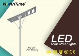 China Aluminum Outdoor All In One Solar LED Street Light With Camera CCTV on sale