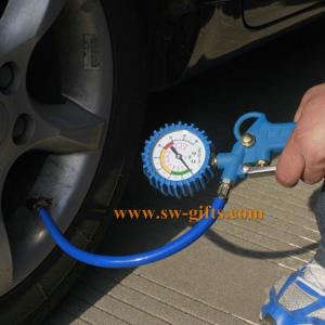 China 0-220PSI Self-locking Auto Car Wheel Tire Air Pressure Gauge Meter Tyre Tester Vehicle Monitoring System on sale