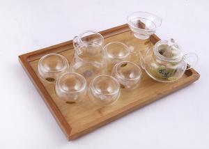 China Handmade Glass Tea Infusion Set Gift Box Cups Capacity 50ml OEM ODM Service on sale