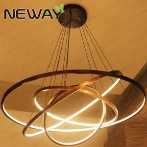 China LED Pendant Light Modern Suspension Ring Light Contemporary Rings Rounds Pendant Lighting on sale