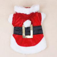 Dacron + Cotton Christmas Dog Clothes Pet Apparel Santa Dress For Shih Tzu
